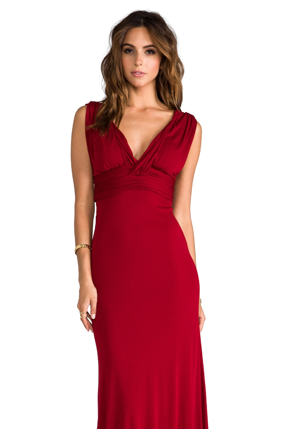 Issa Long Sleeveless Dress in Bordeaux