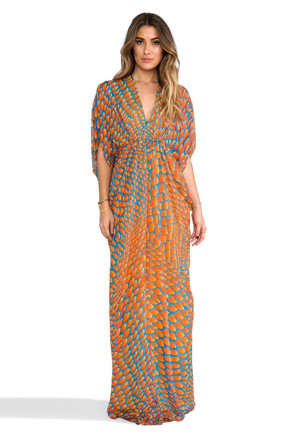 Issa Chiffon Maxi Dress in Sunshine