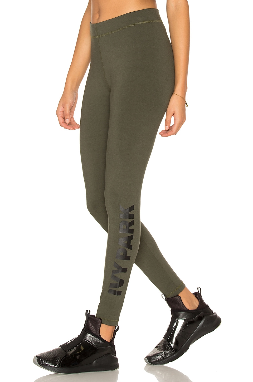IVY PARK Casual Legging in Khaki & Black Logo