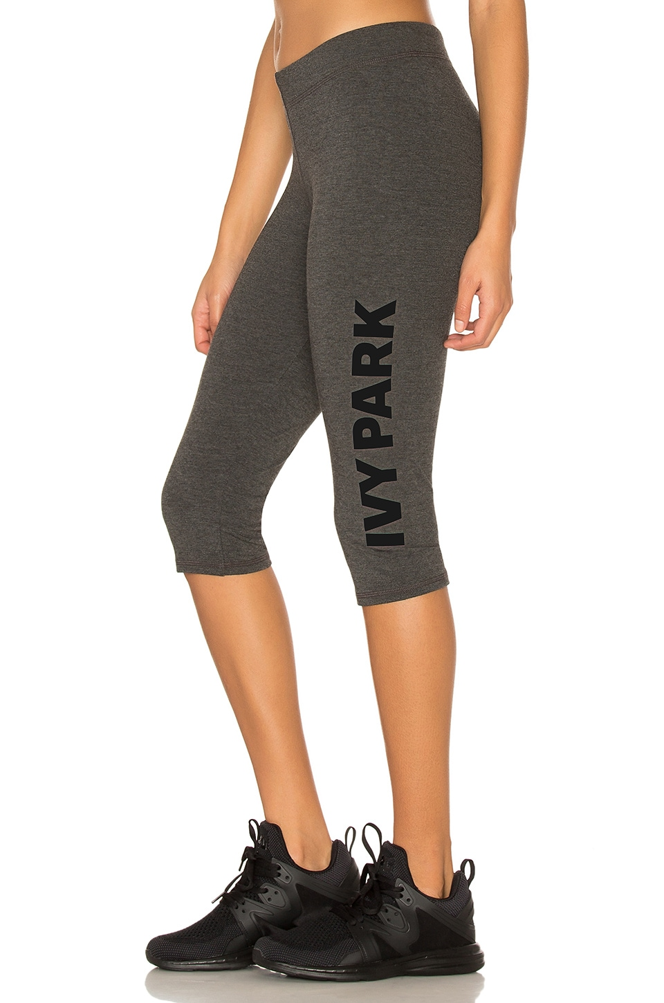 IVY PARK Casual Crop Legging in Grey & Black Logo