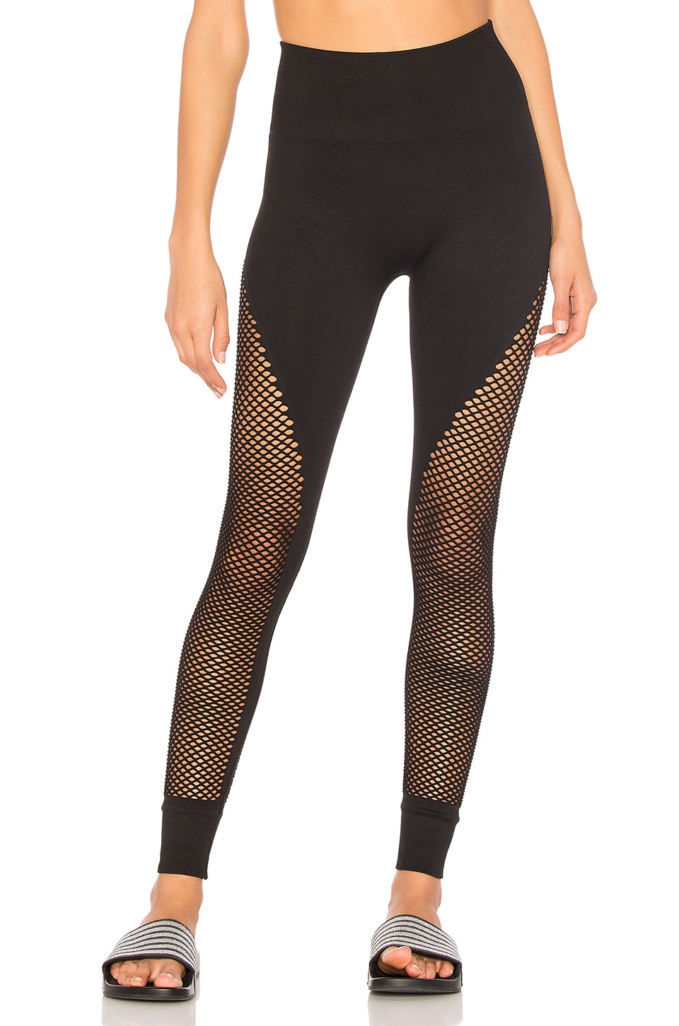 IVY PARK Mesh Legging in Black