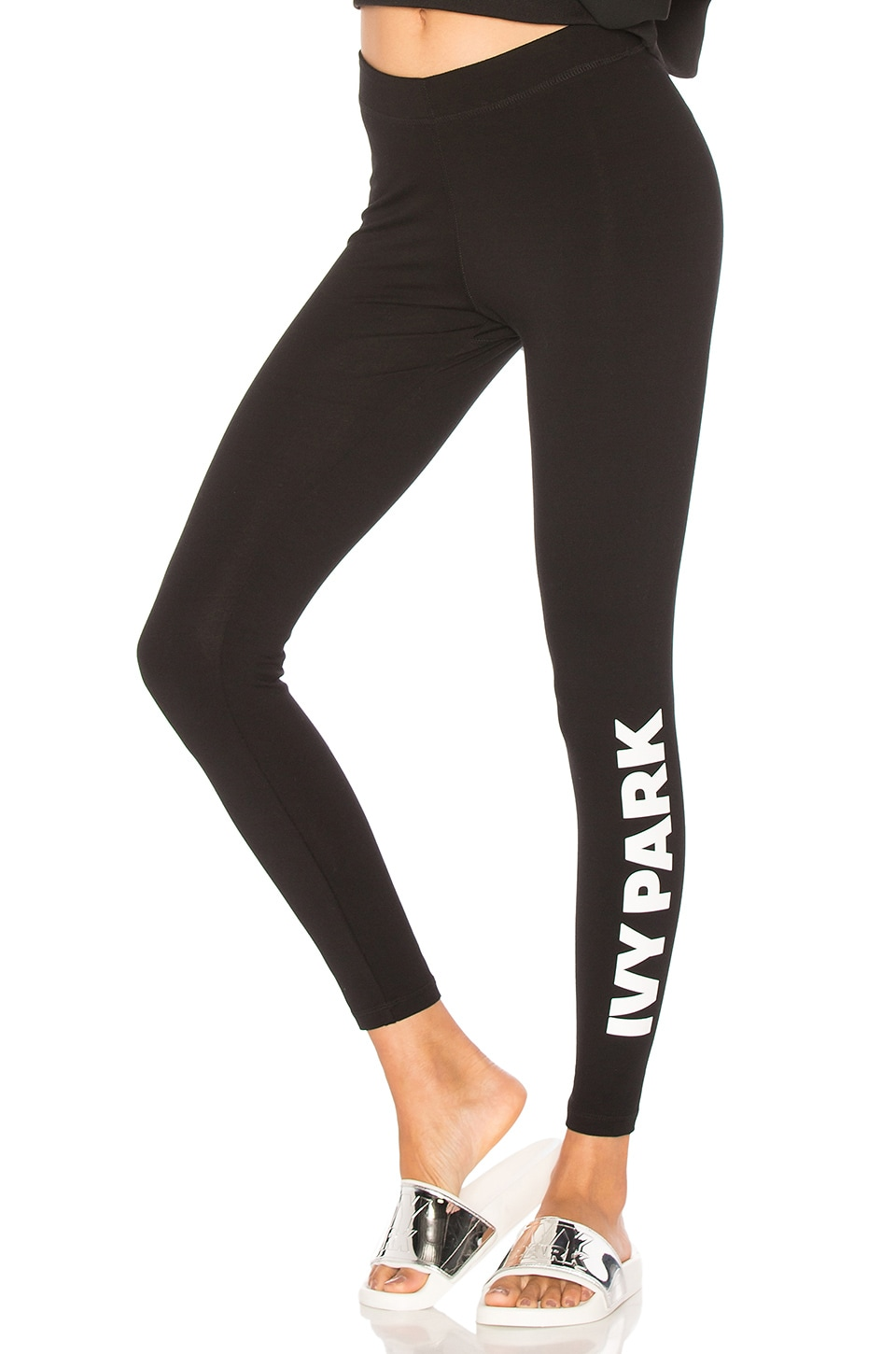 IVY PARK Casual Legging in Black & White Logo