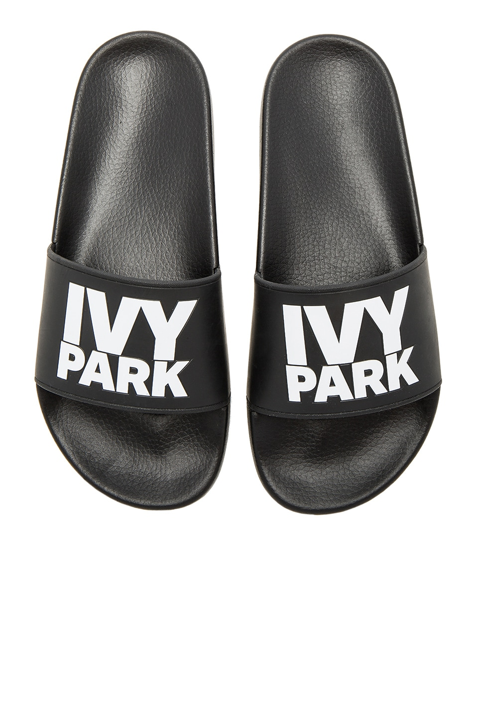 IVY PARK Logo Sliders in Black & White