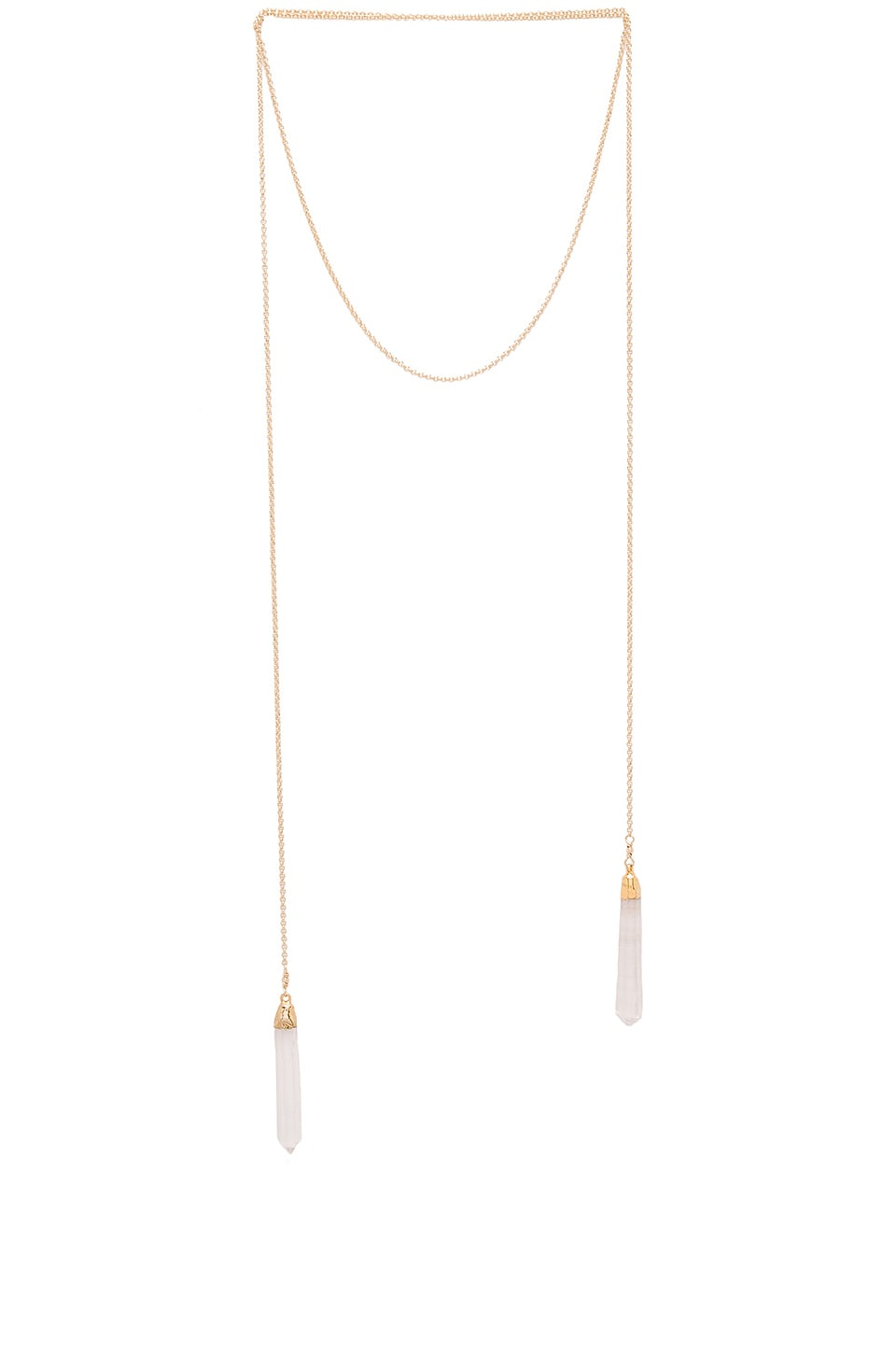 Jacquie Aiche Double Crystal Wrap Necklace in Gold