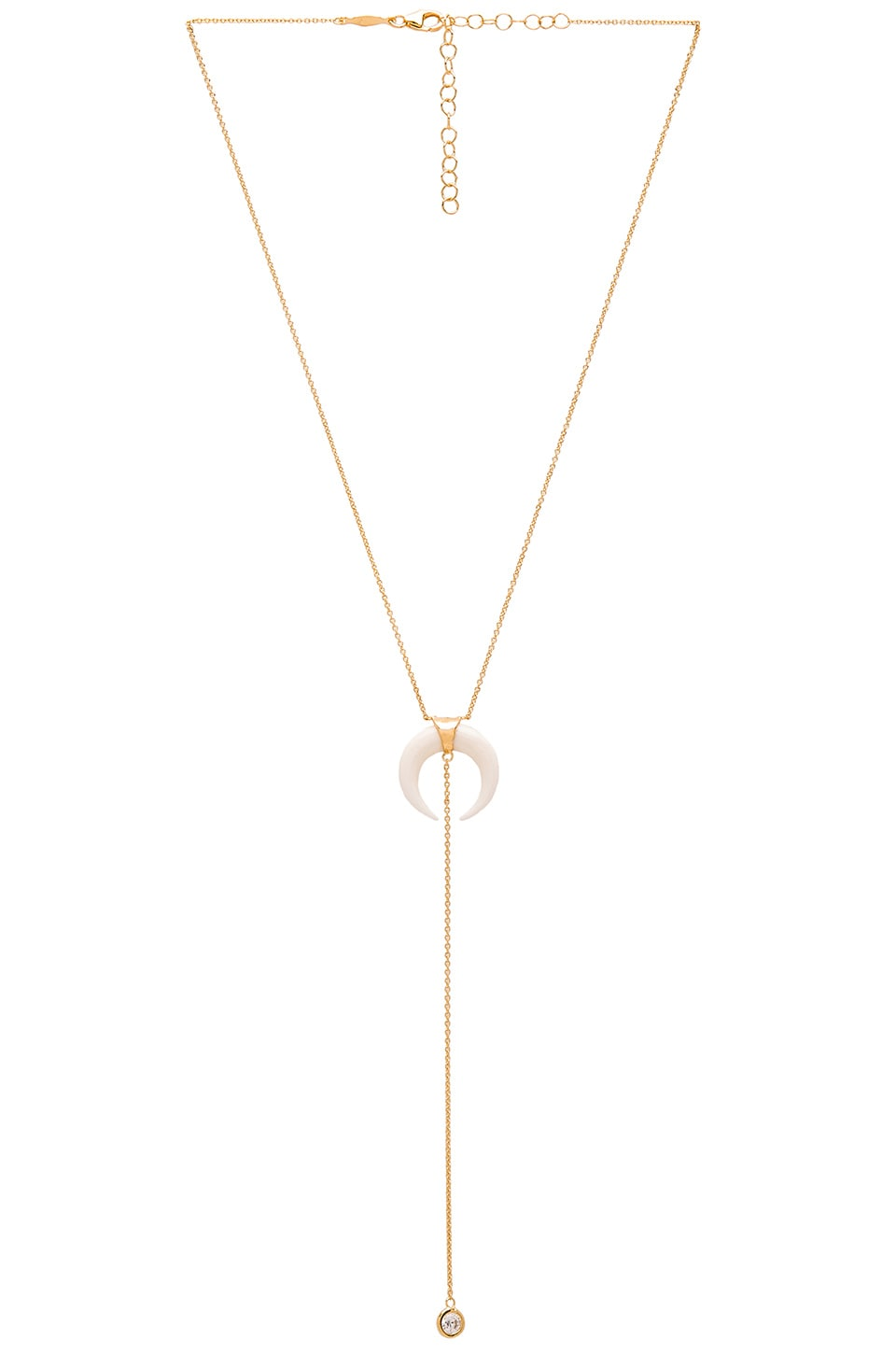 Jacquie Aiche Double Bone Horn Necklace in Gold