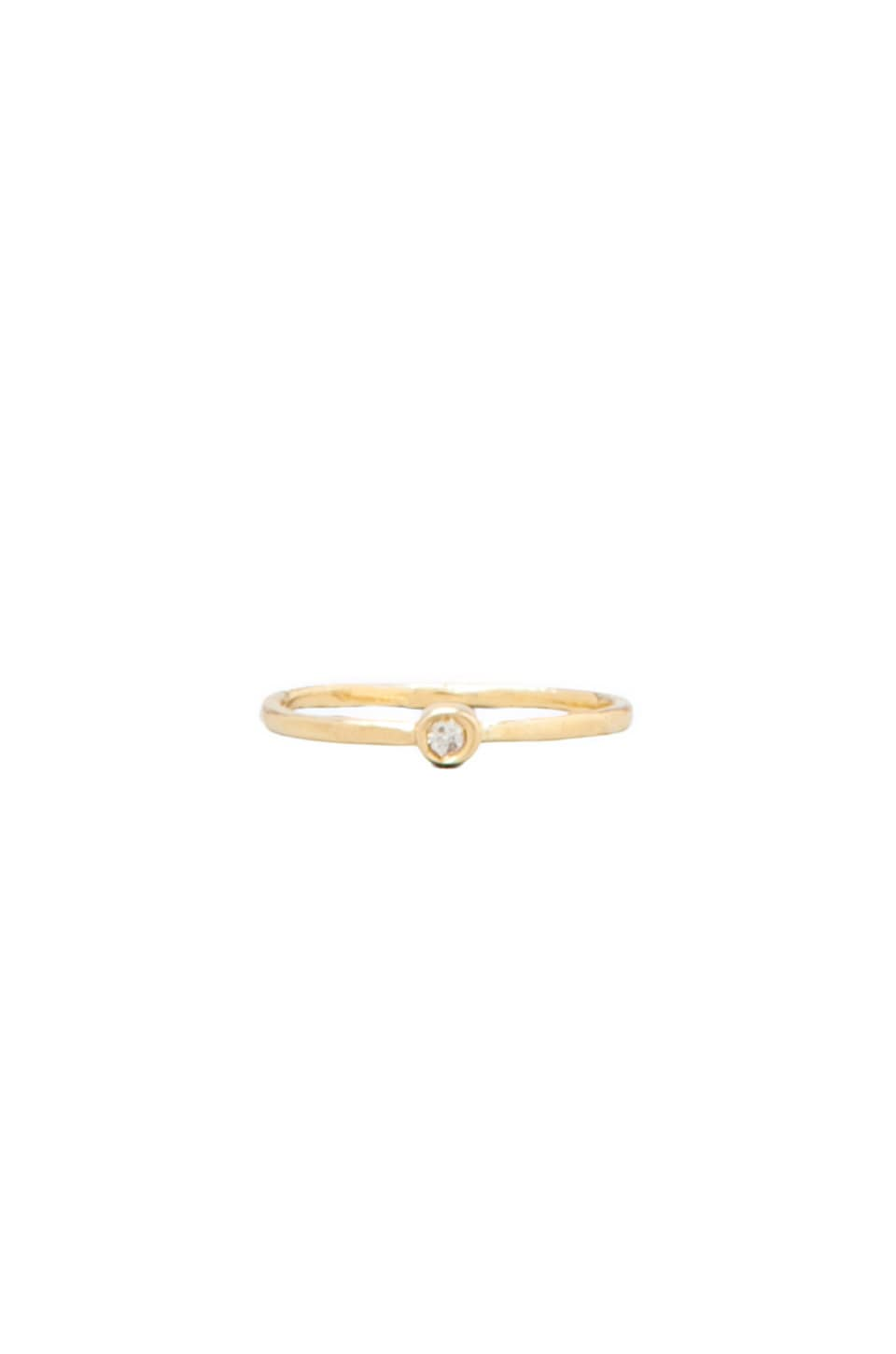 Jacquie Aiche Small Diamond Waif Ring in Gold
