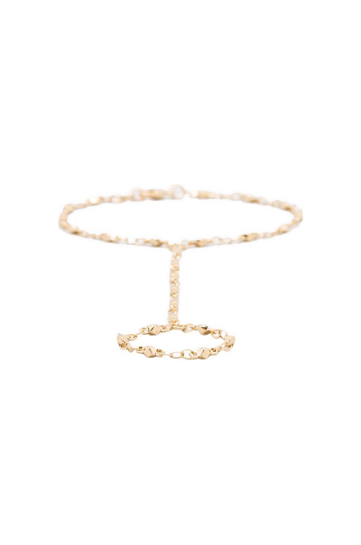 Jacquie Aiche Vintage Chain Finger Bracelet in Gold Vermeil