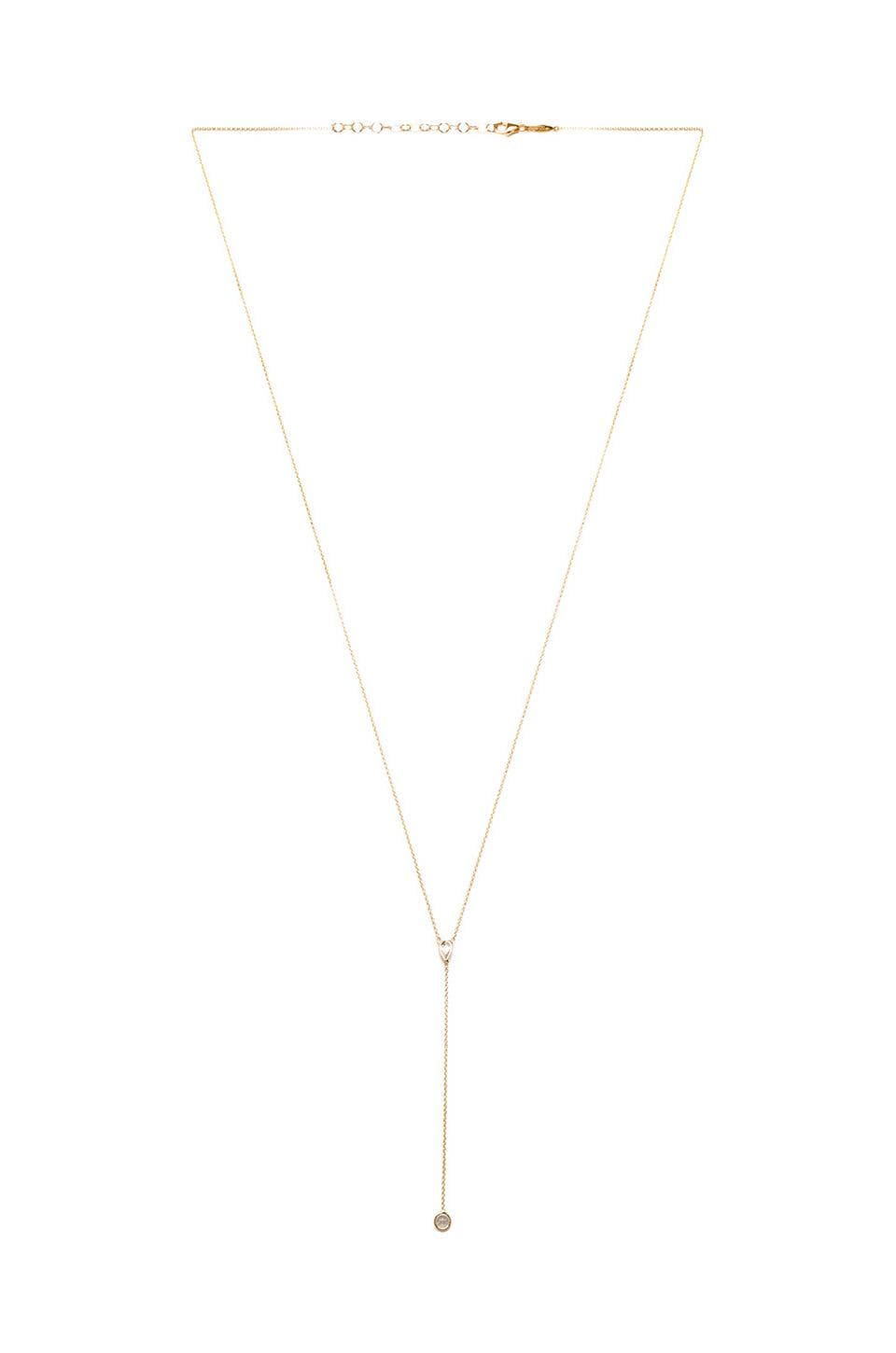 Jacquie Aiche Rosary Necklace in Vermeil Yellow Gold