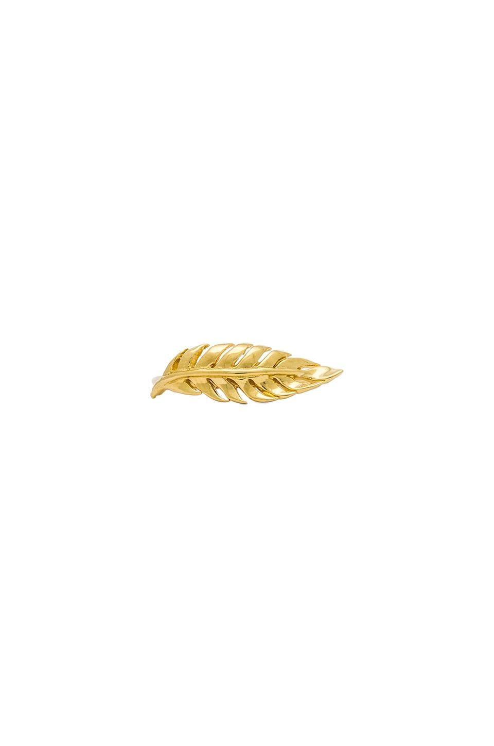 Jacquie Aiche Plain Feather Ring in Gold