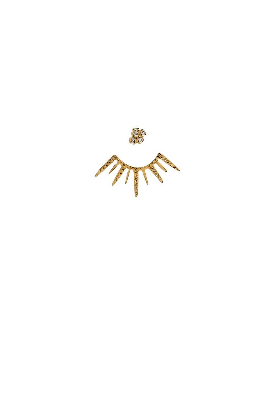 Jacquie Aiche Starburst Ear Jacket in Gold