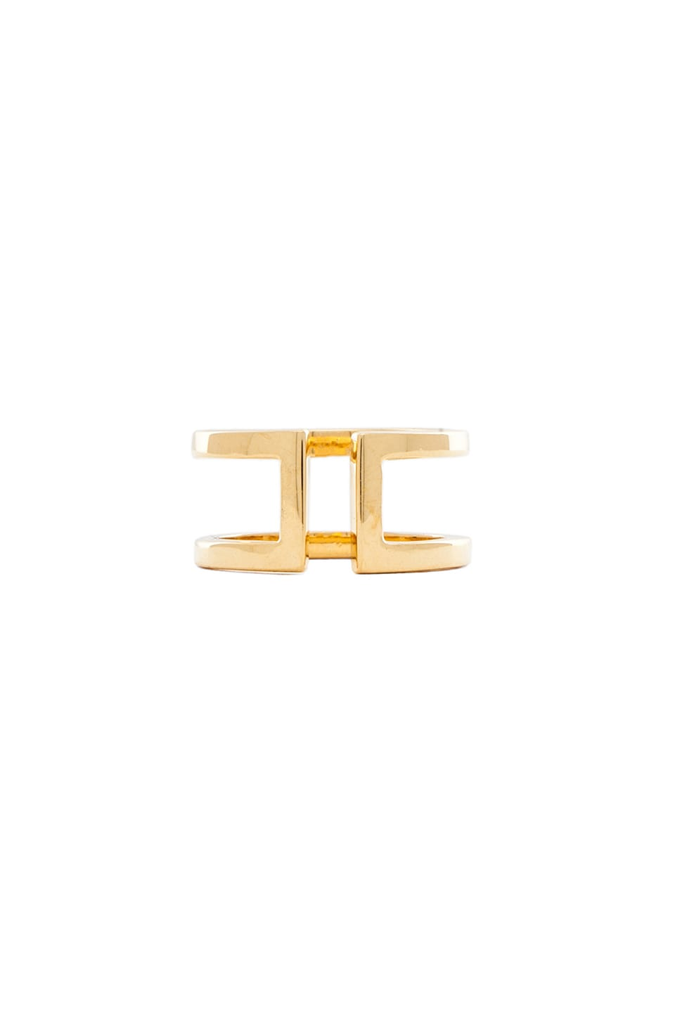 Jacquie Aiche Cut Out Ring in Gold Vermeil