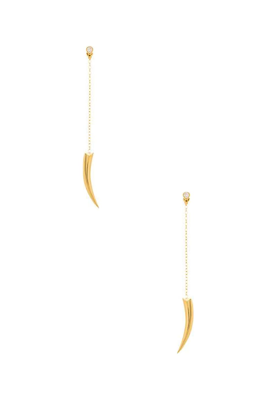 Jacquie Aiche Claw Drop Stud Earring in Gold