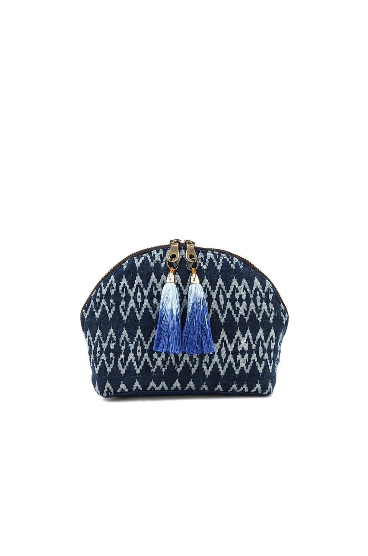 JADEtribe Seminyak Tassel Cosmetic Bag in Blue