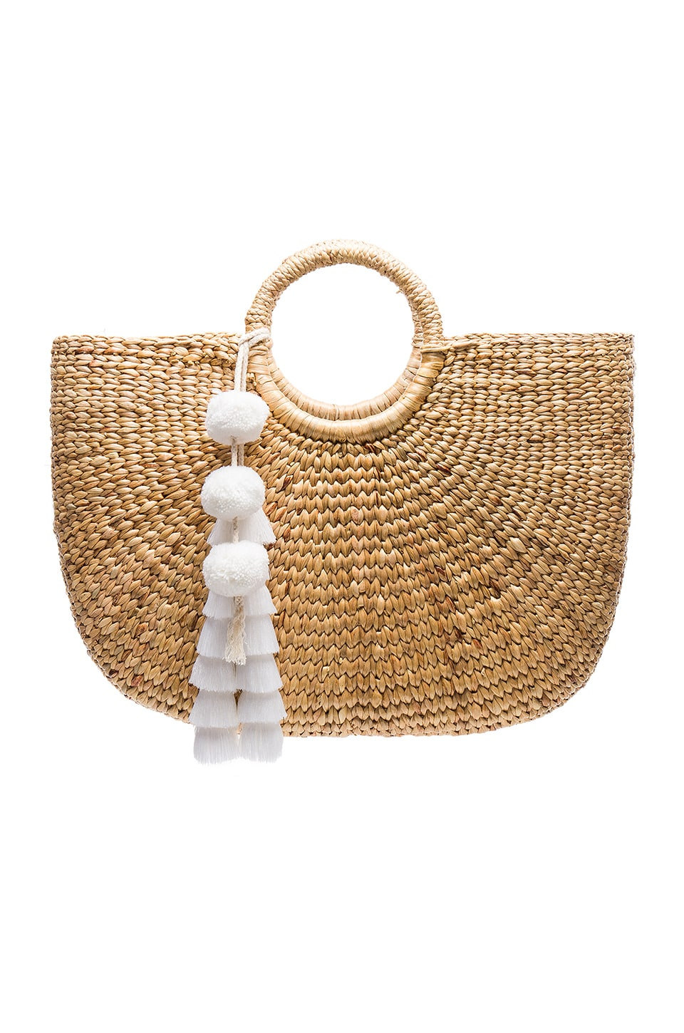 JADEtribe Large Basket Tote in White
