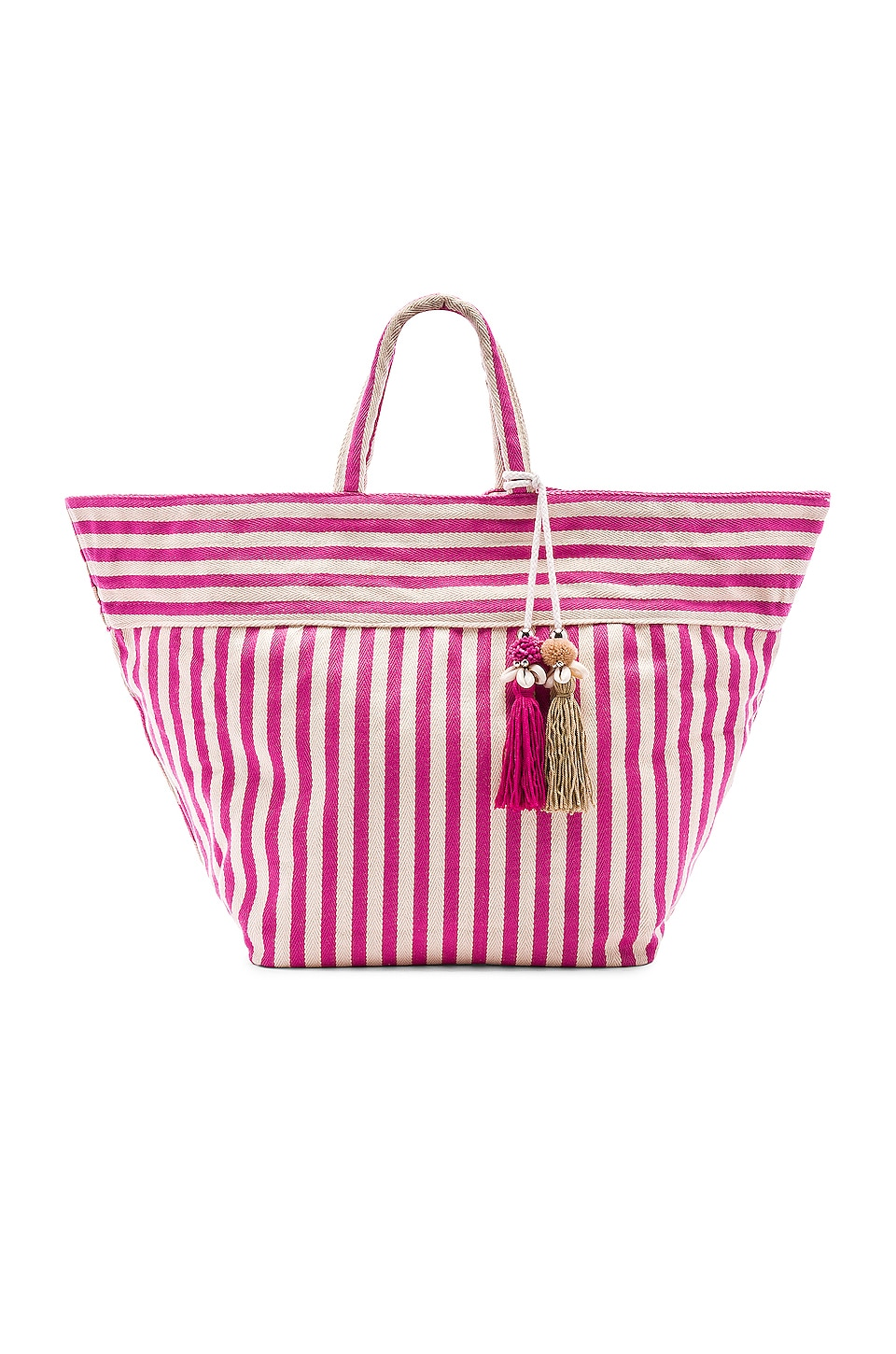 JADEtribe Valerie Large Beach Bag Puka in Pink
