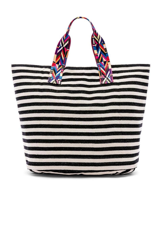 JADETRIBE Good Vibes Val Beach Bag in Black