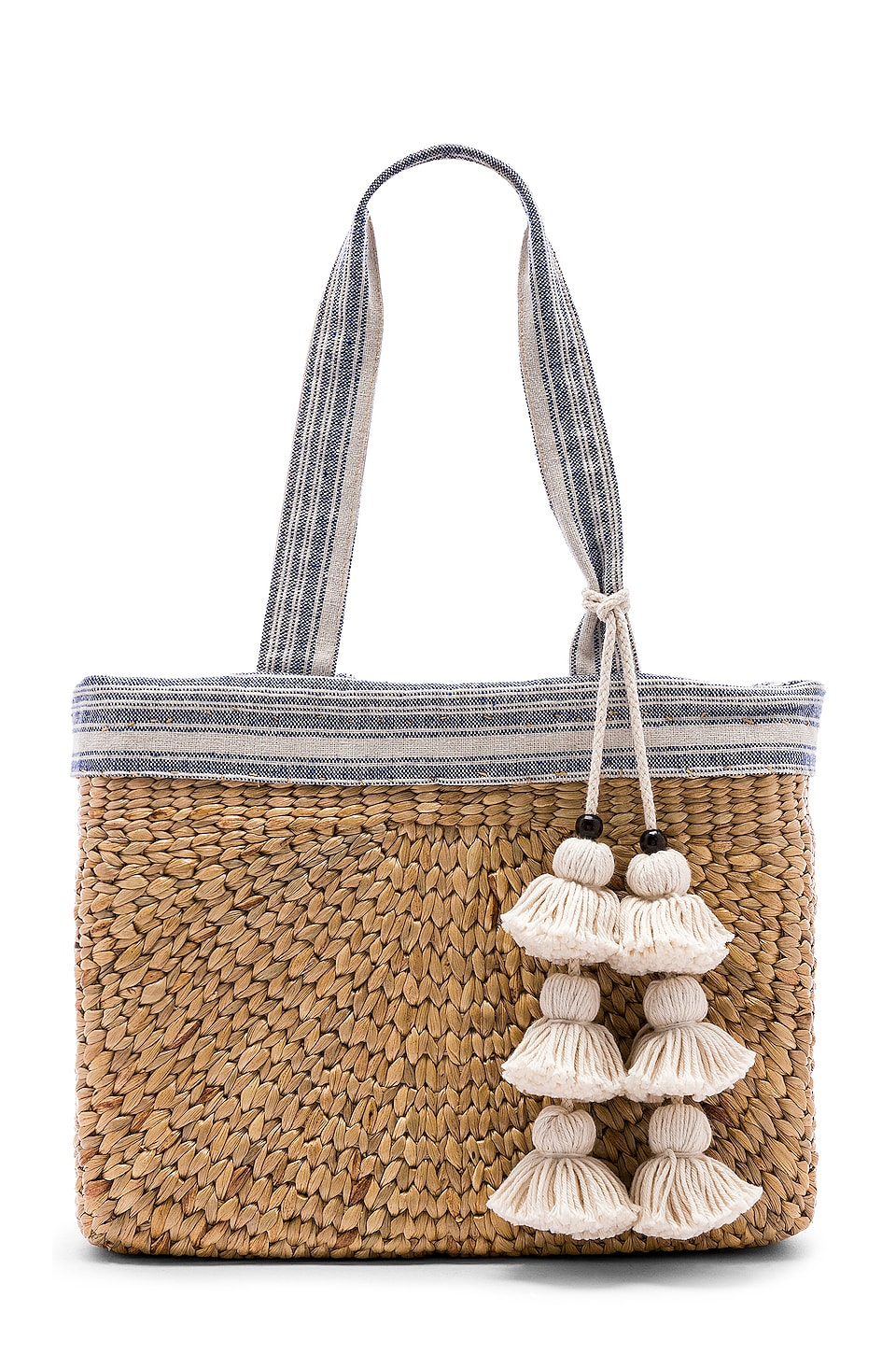 JADEtribe Sabai Small Square Basket in Indigo