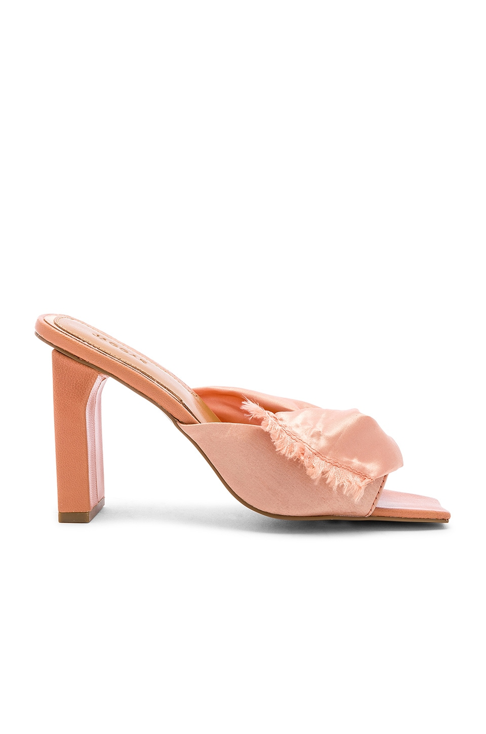 JAGGAR Knot Satin Heel in Clay