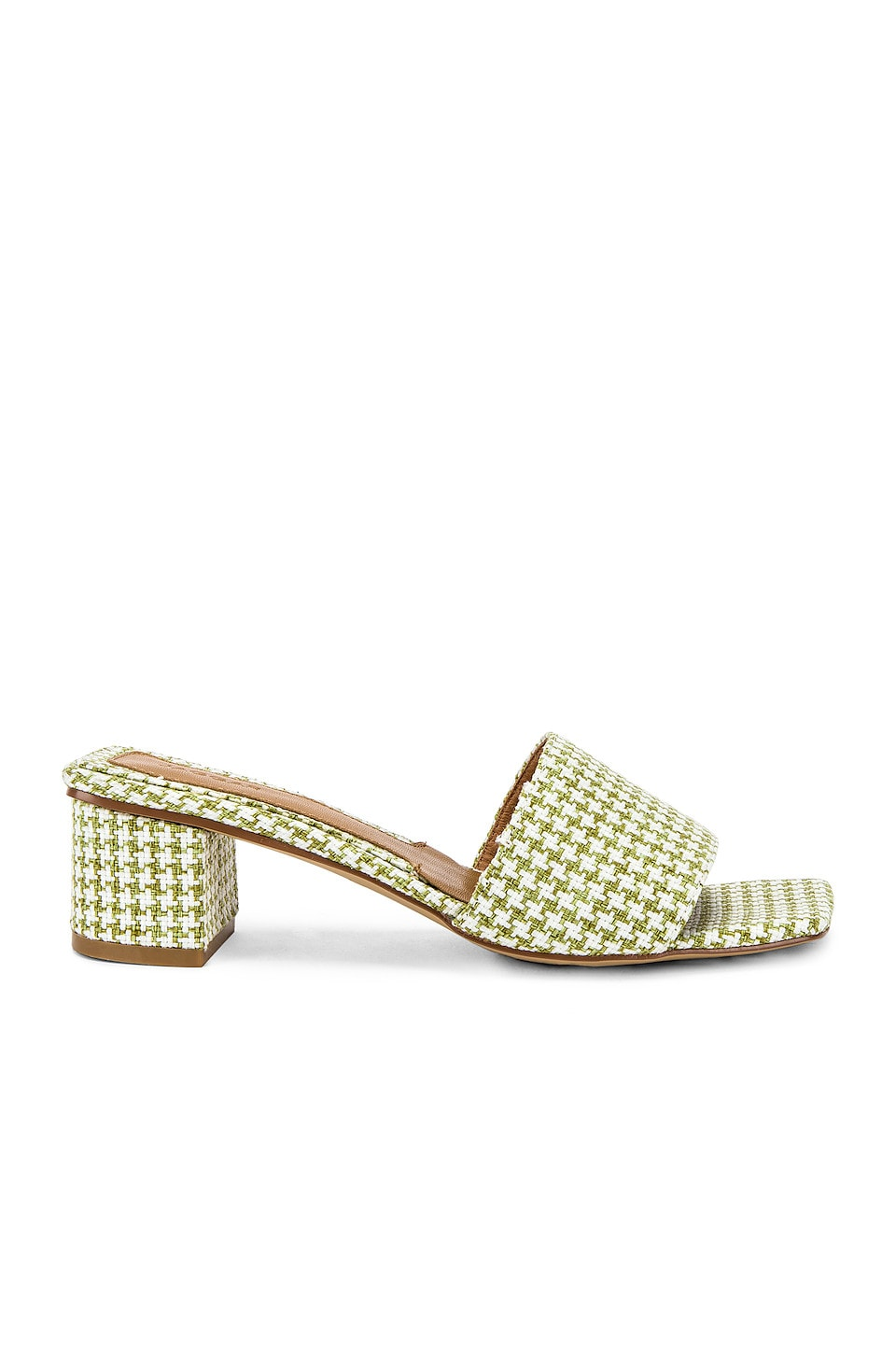 JAGGAR Meadow Houndstooth Sandal in Sage