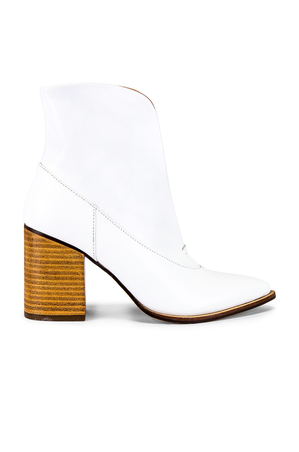 JAGGAR Scallop Ankle Bootie in Ivory