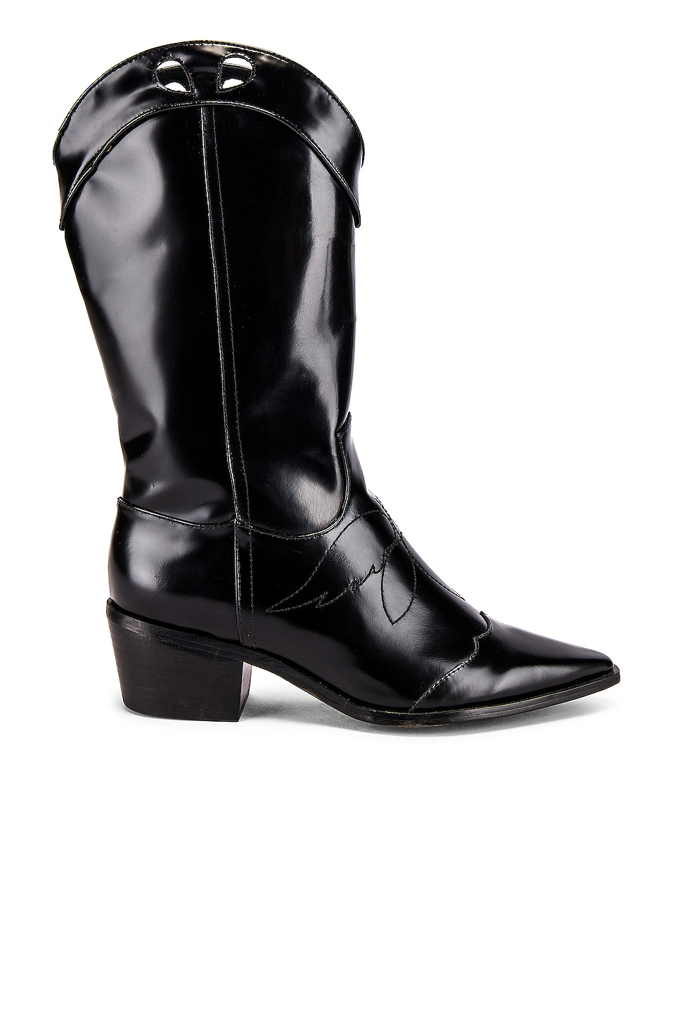 JAGGAR Western Boot in Black