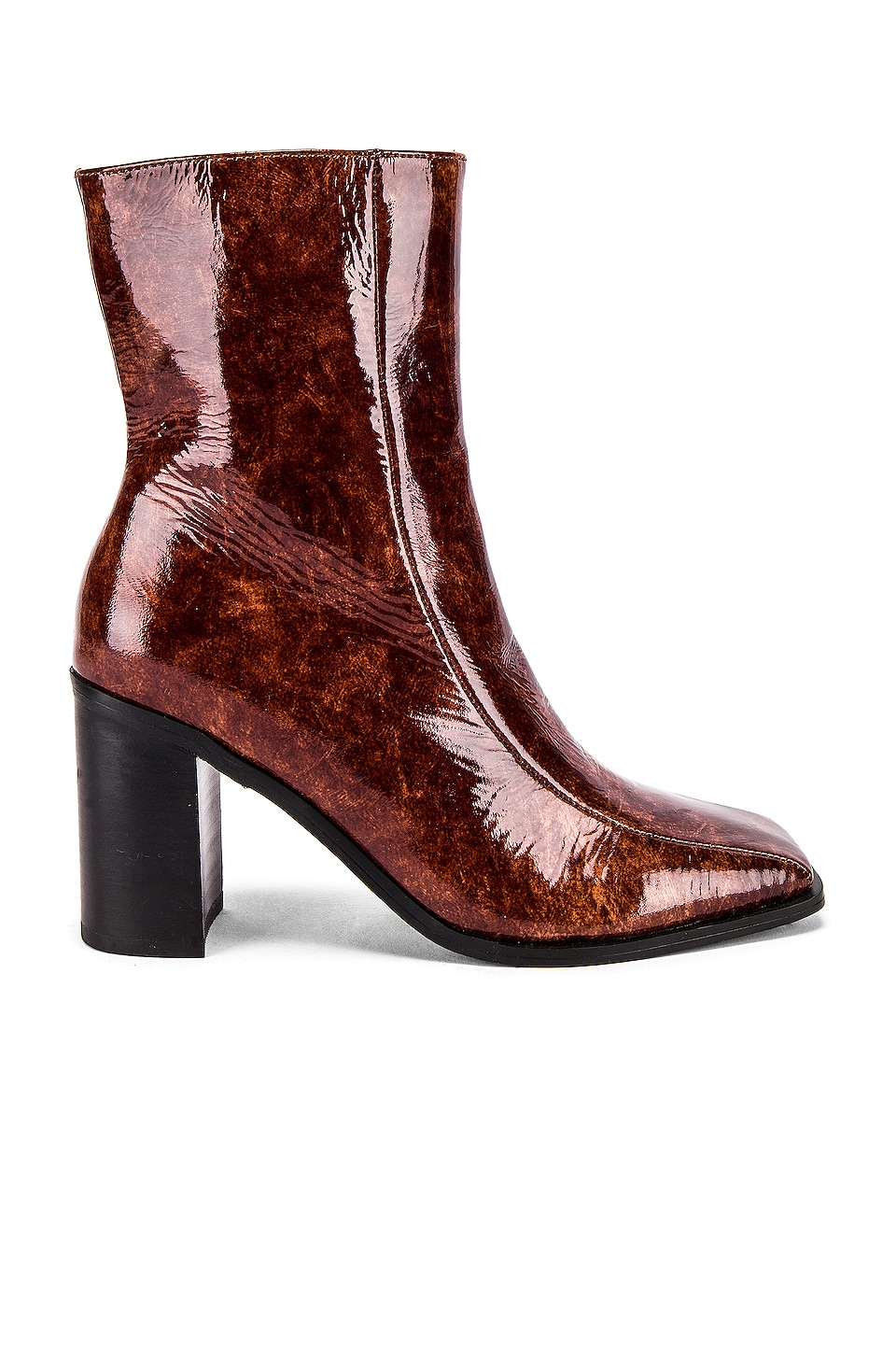 JAGGAR Bold Ankle Bootie in Chocolate