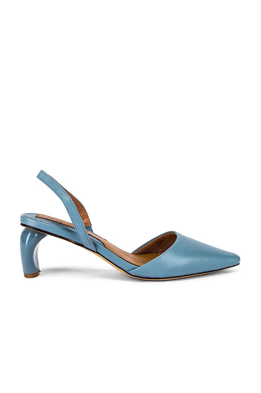 JAGGAR Virtue Leather Slingback Heel in Sky Blue