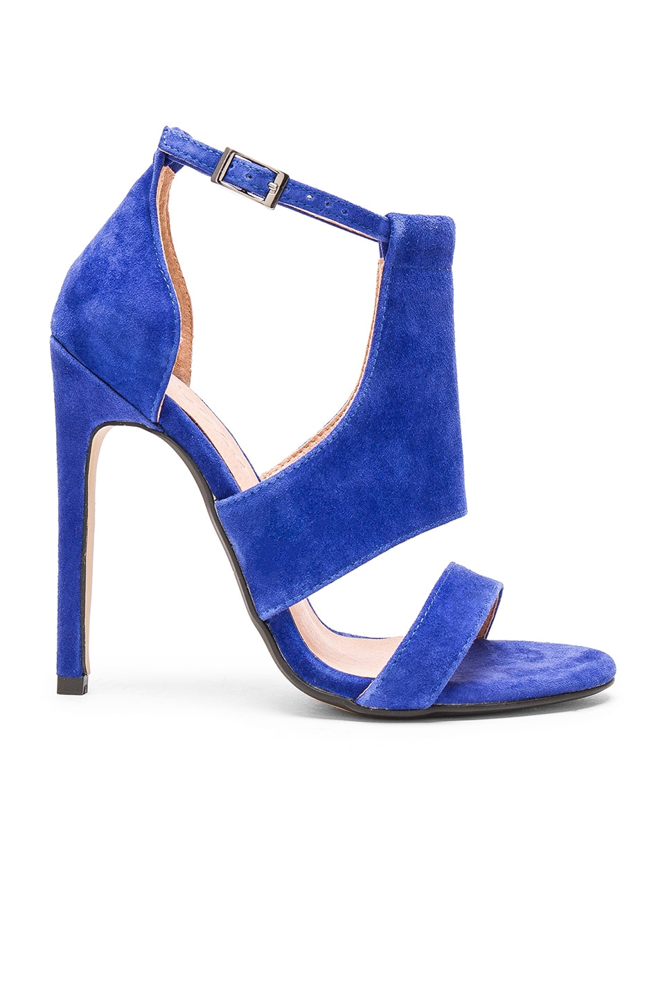 royal blue ankle strap heels is heel