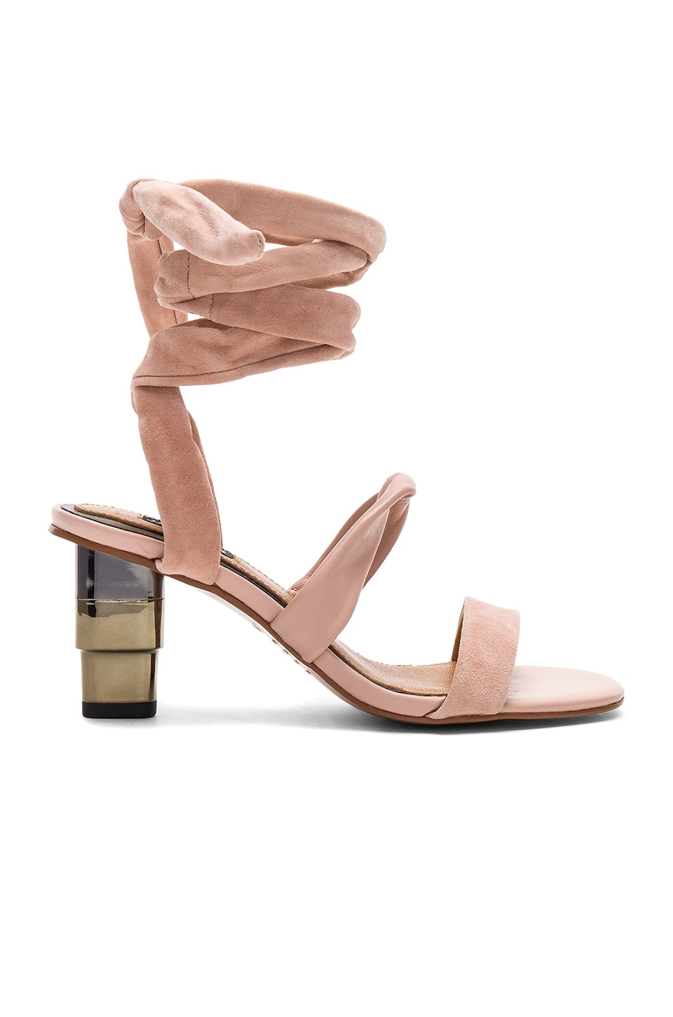 JAGGAR Triple Metal Heel in Nude