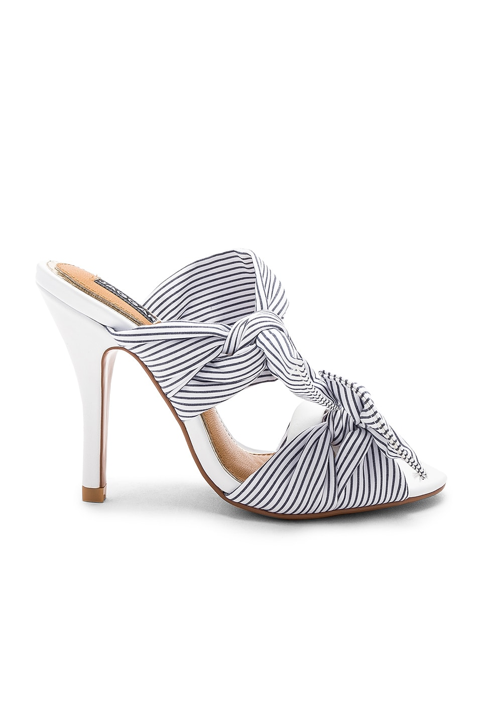 JAGGAR In Touch Striped Heel in Chalk
