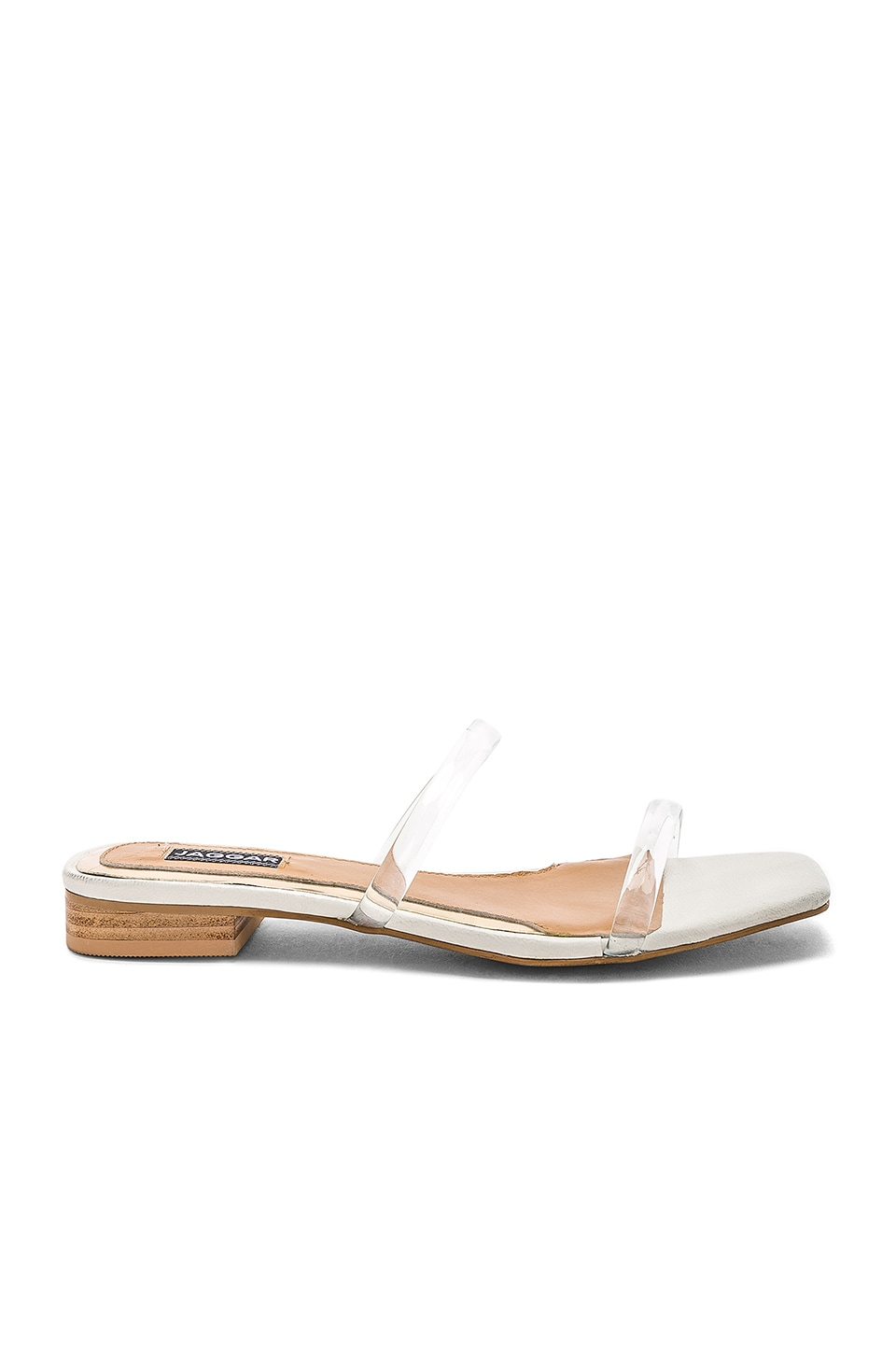 JAGGAR Perspex Sandal in Clear