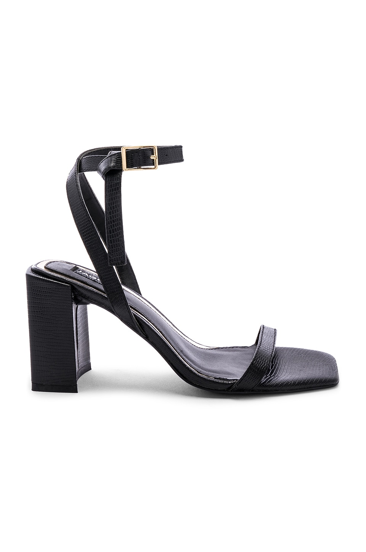 JAGGAR Essential Lizard Heel in Black