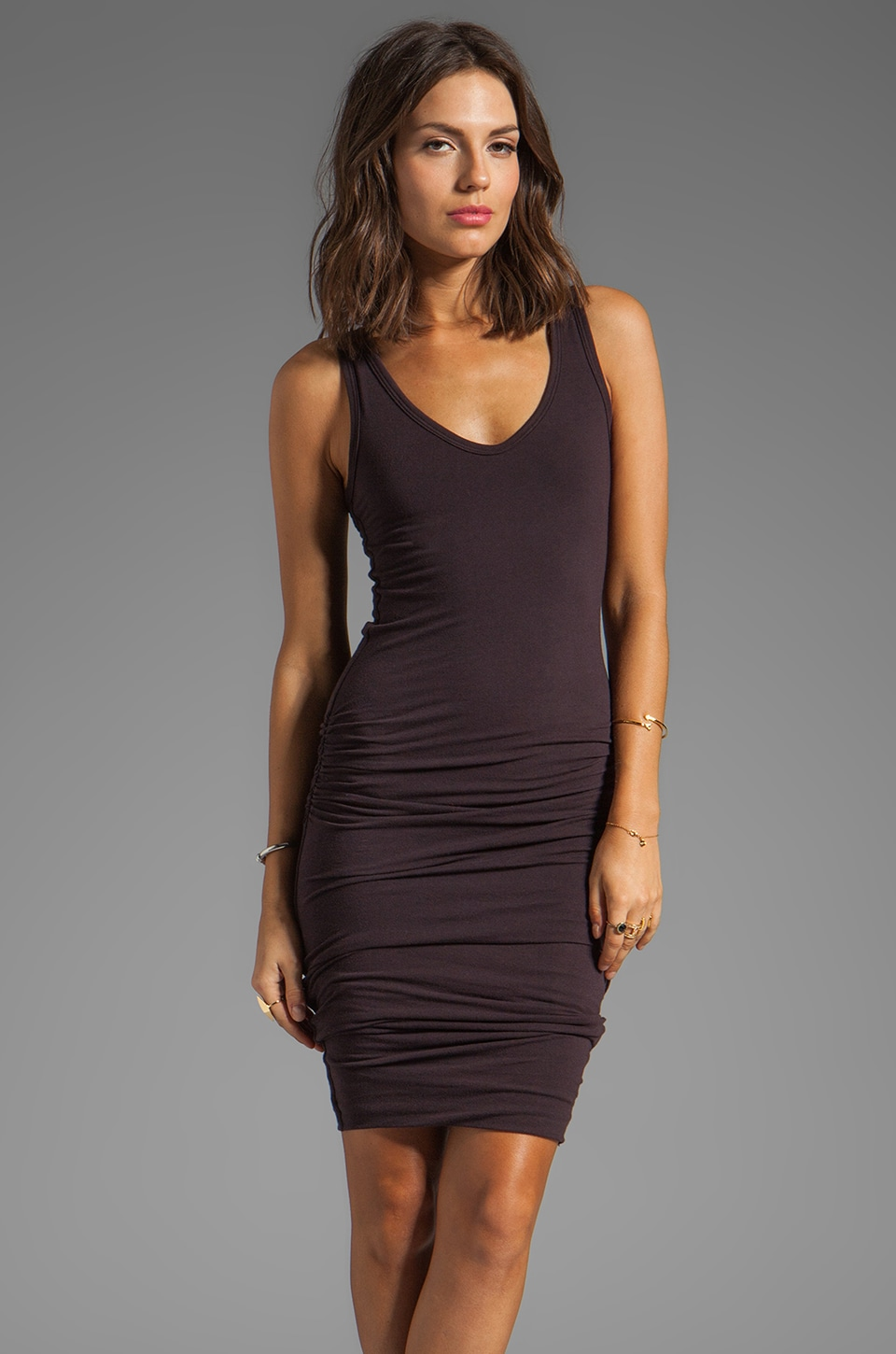 James Perse Rouched Tank Dress in Joplin