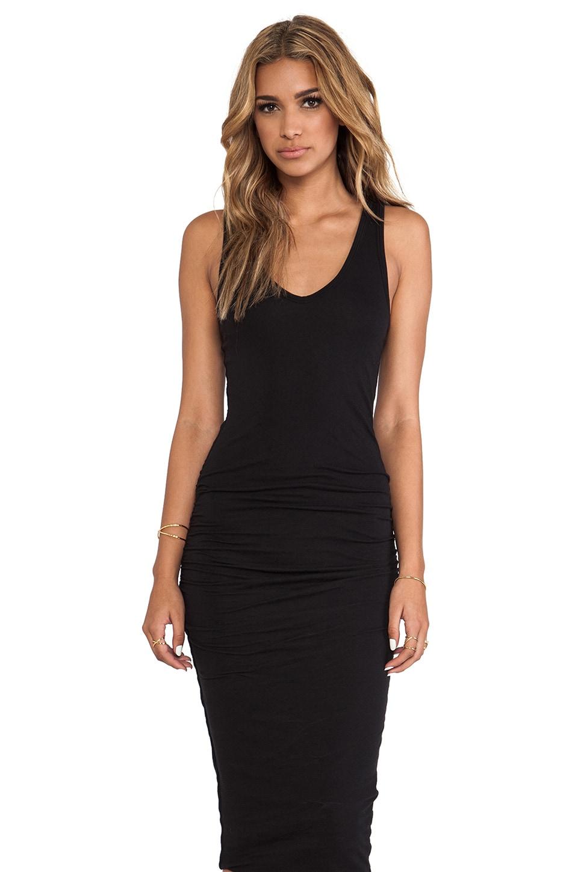 James Perse Skinny Tank Dress in Black