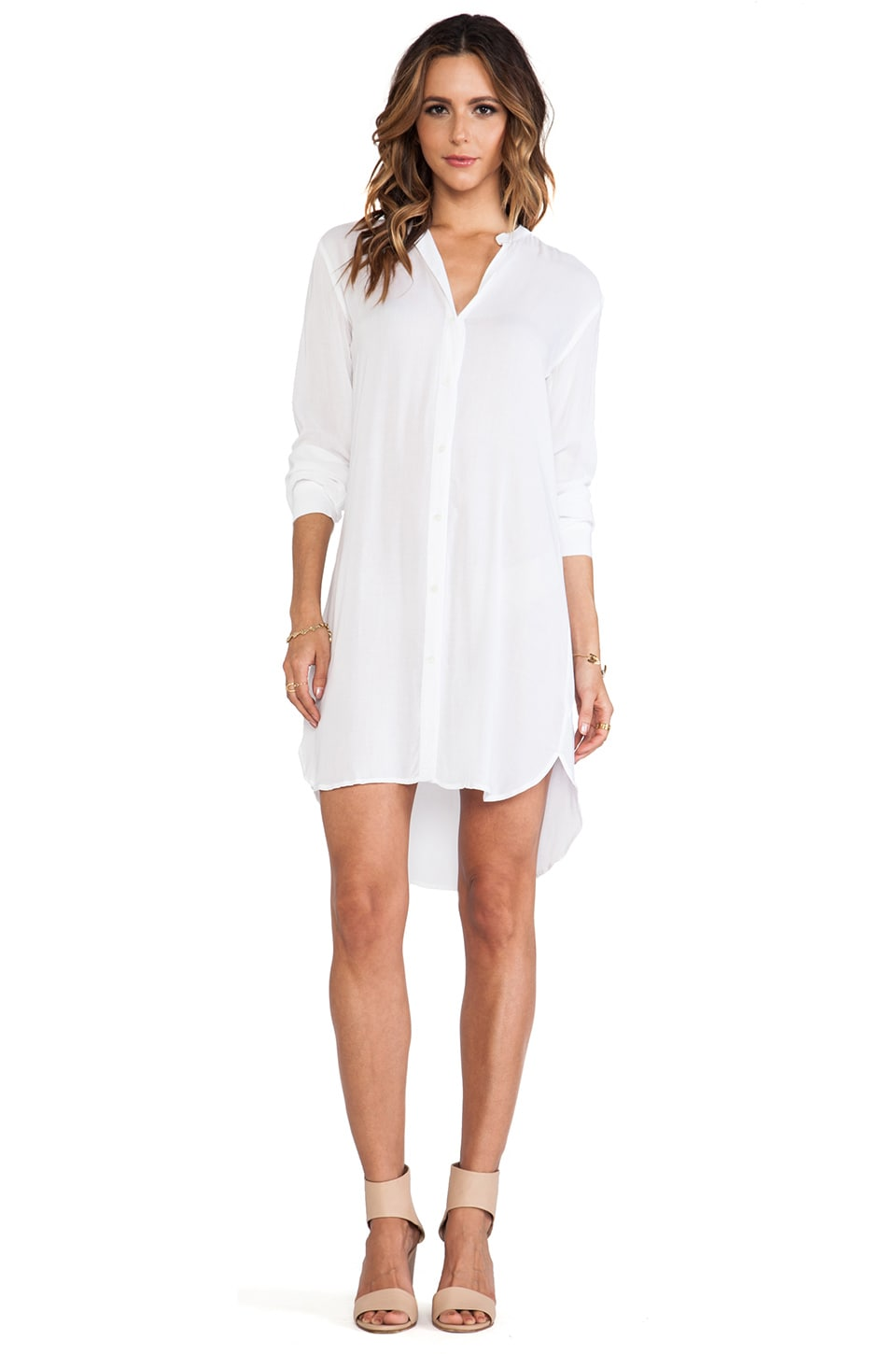 James perse collarless shirt dress shopyourway for Baseball button up t shirt dress
