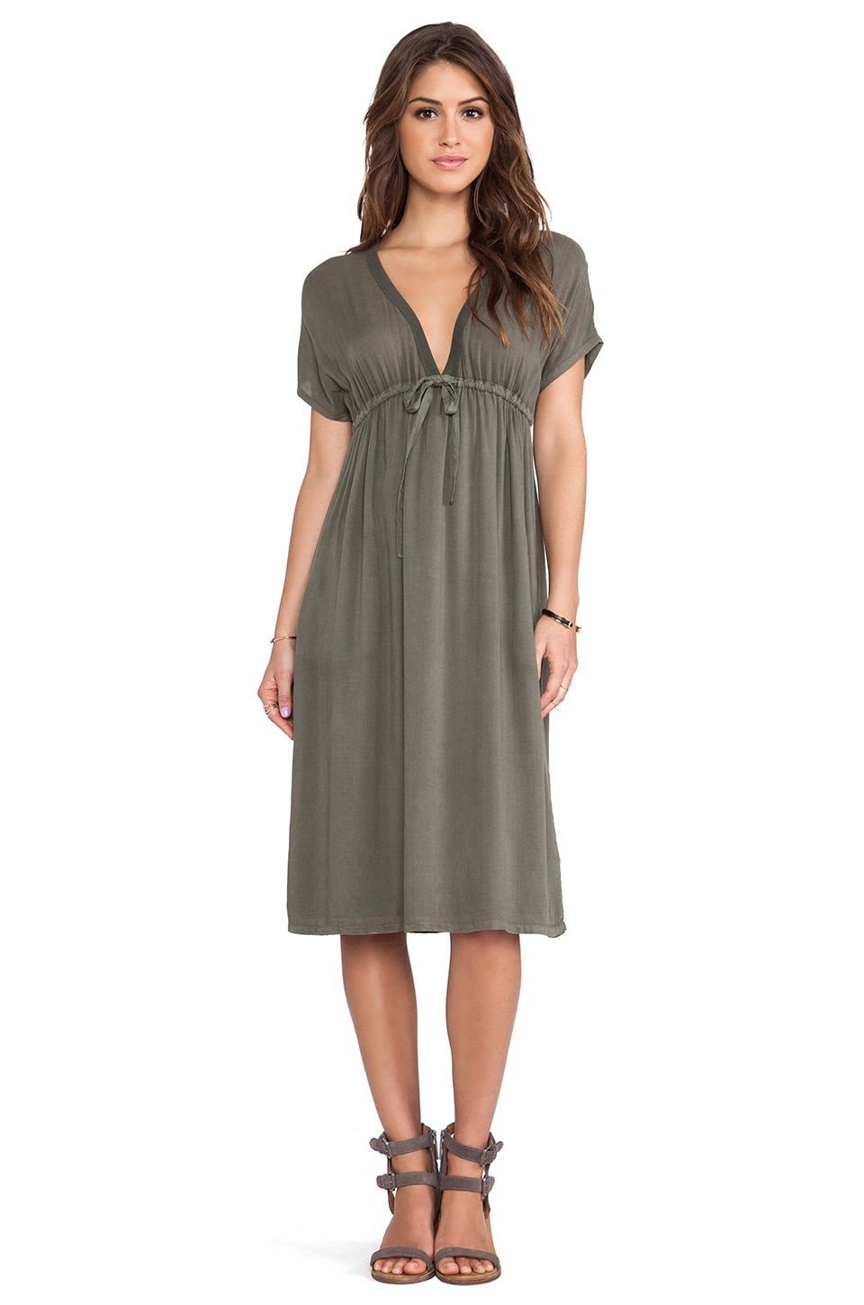 James Perse Empire Dress in Safari