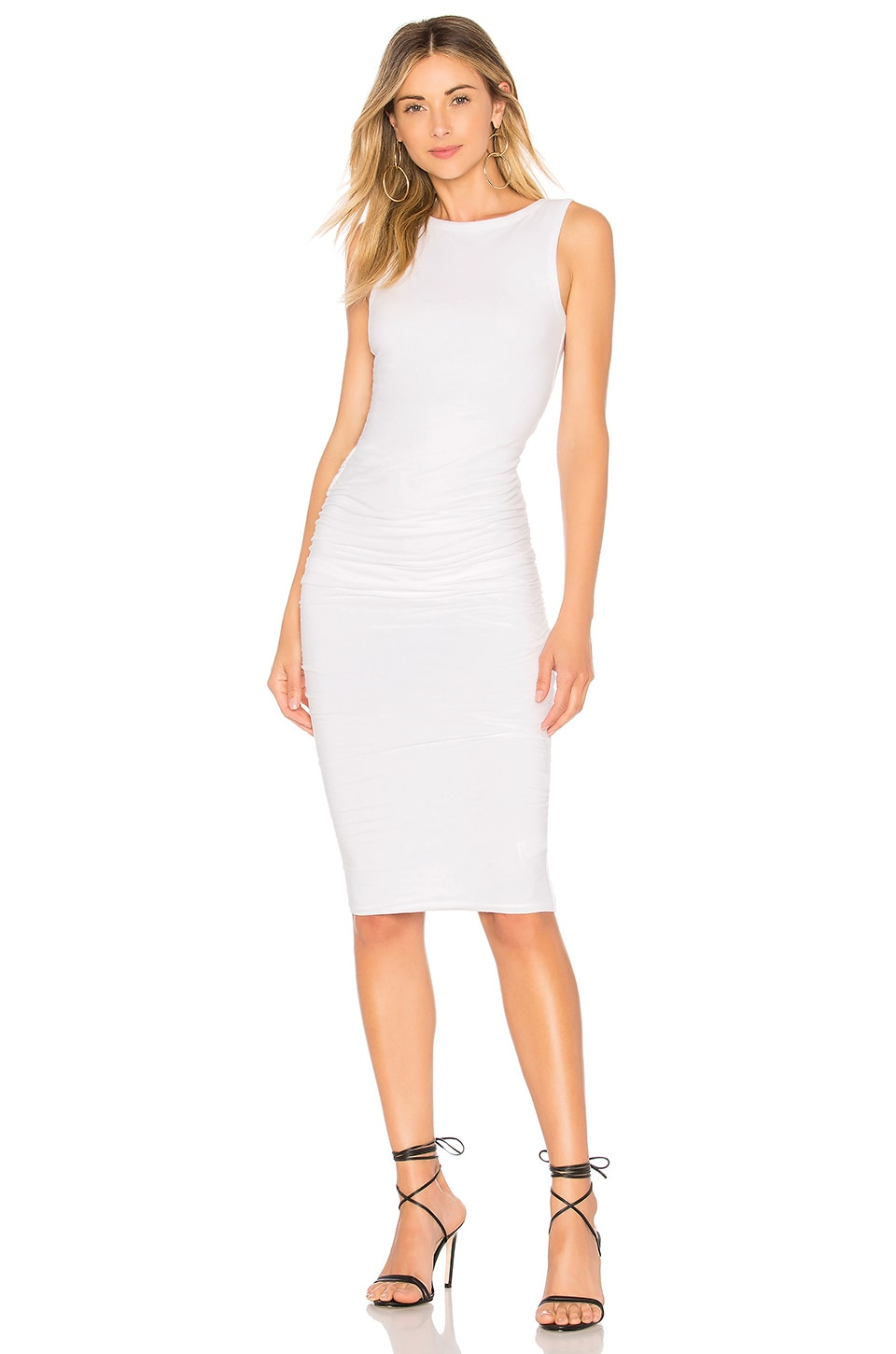 Open Back Skinny Dress in White. - size 1 (XS/S) (also in 2 (S/M)) James Perse ctliVaL
