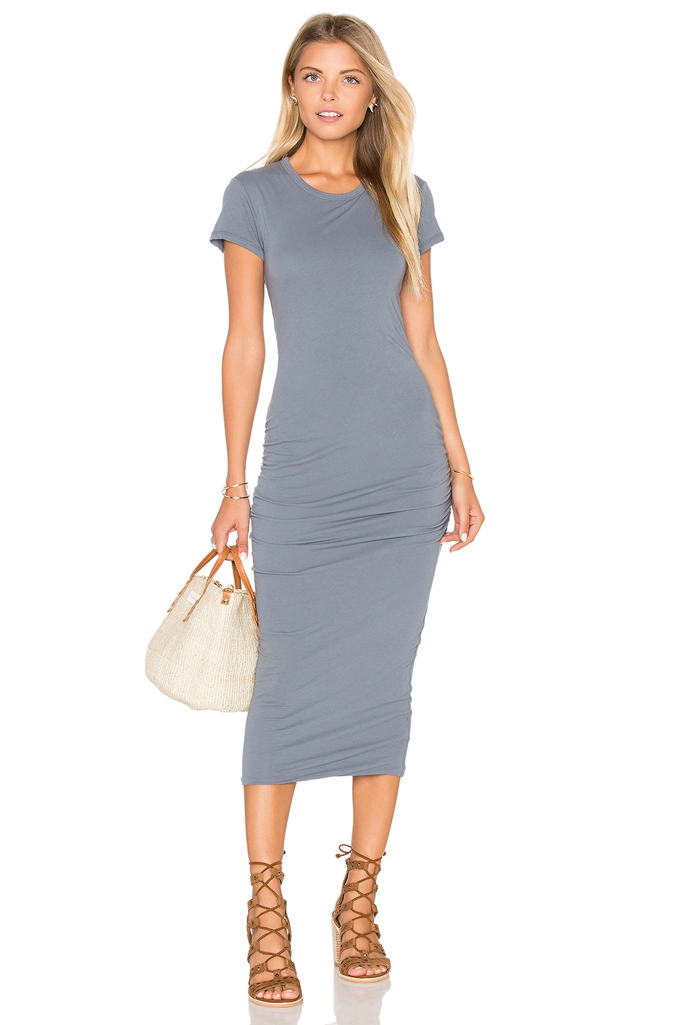 James Perse Classic Skinny Dress in North