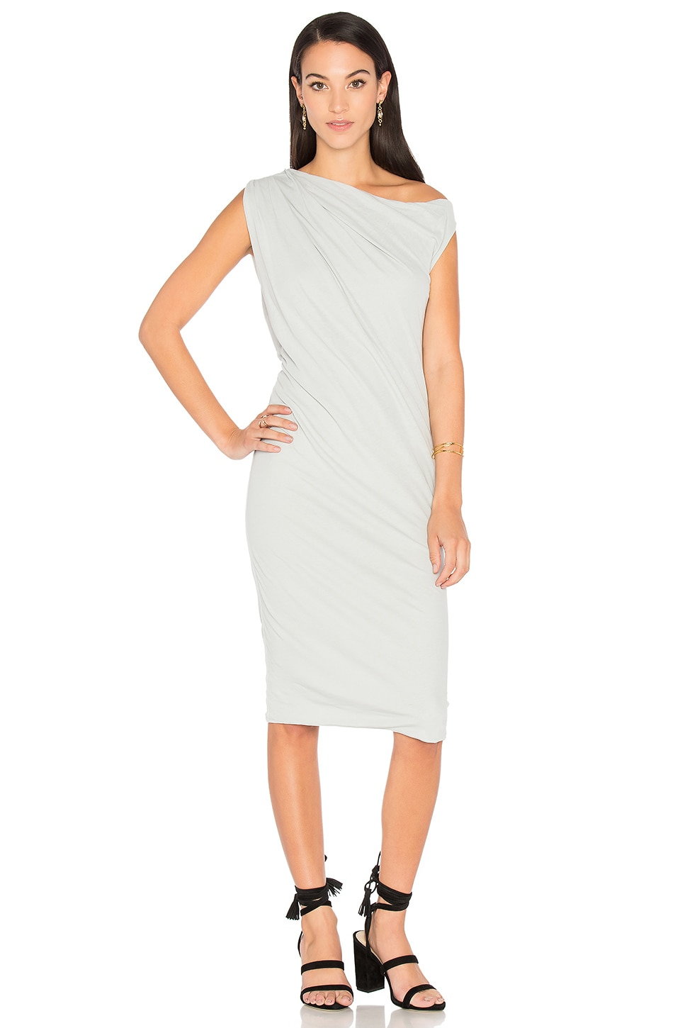 One Shoulder Draped Dress by James Perse