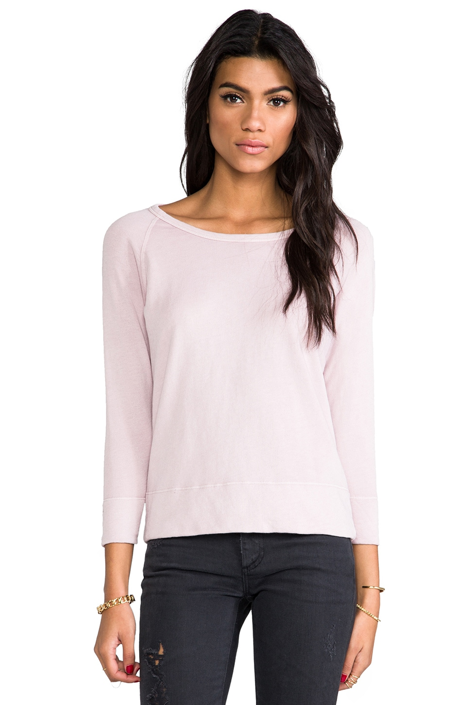 James Perse Vintage Cotton Pullover in Degas