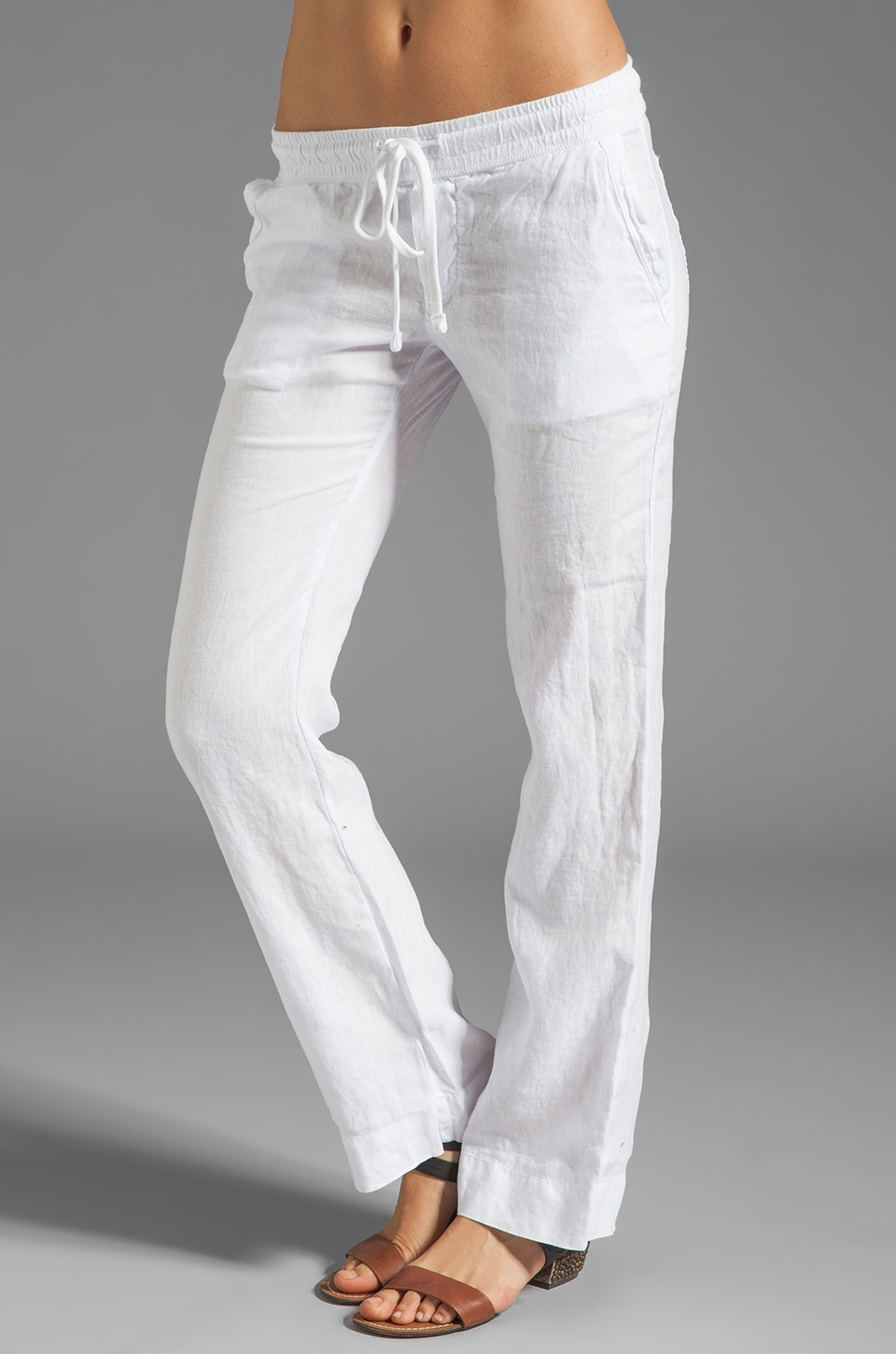 James Perse Tailored Linen Pant in White