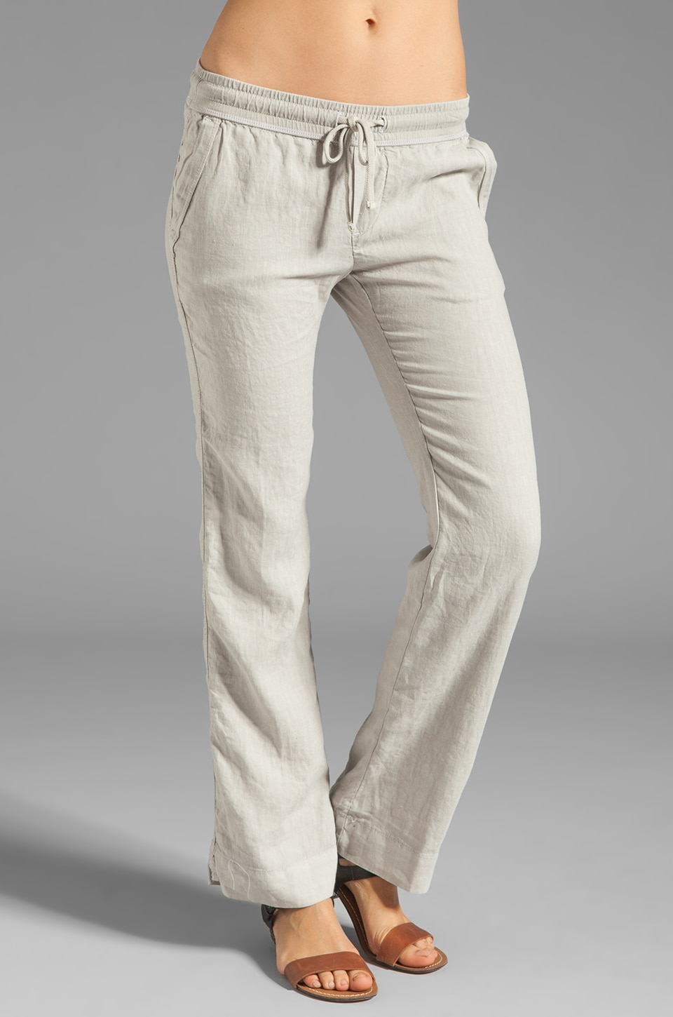 James Perse Tailored Linen Pant in Matchstick