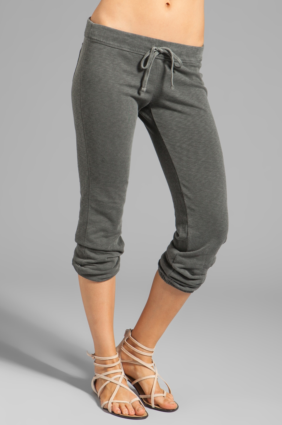 James Perse Vintage Cotton Genie Pant in Charcoal