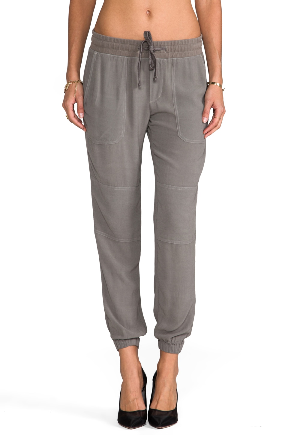James Perse Crepe Surplus Pant in Spruce