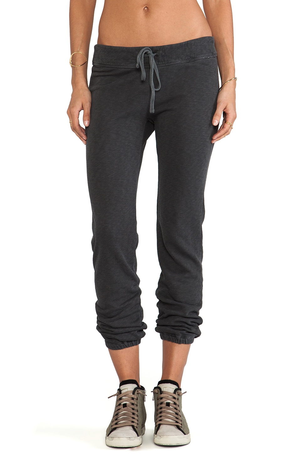 James Perse Genie Sweat Pant in Carbon