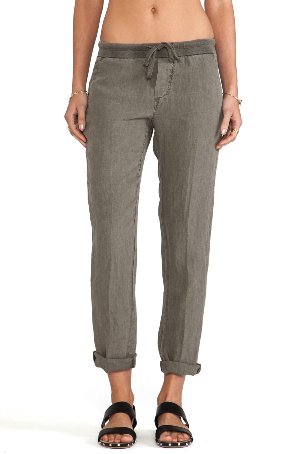 James Perse Linen Chino Pant in Safari