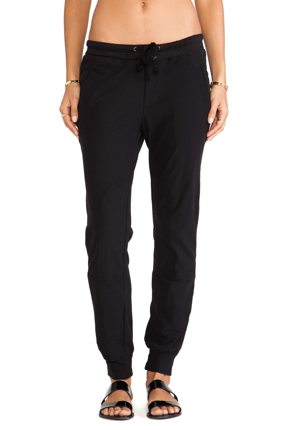 James Perse Stretch Twill Field Pant in Black