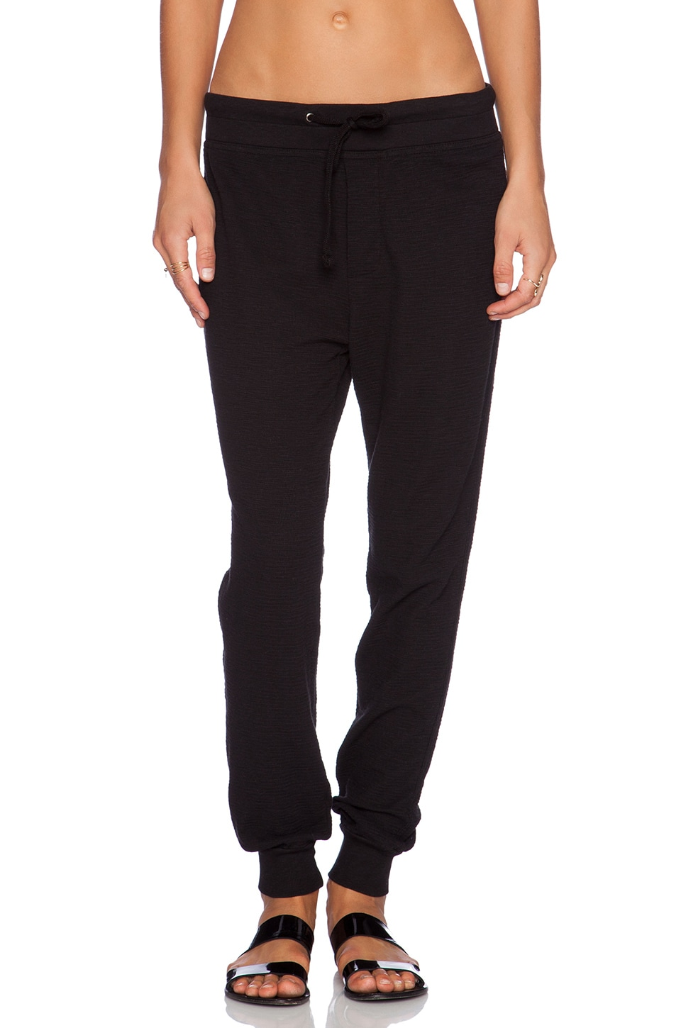 James Perse Thermal Sweatpant in Black