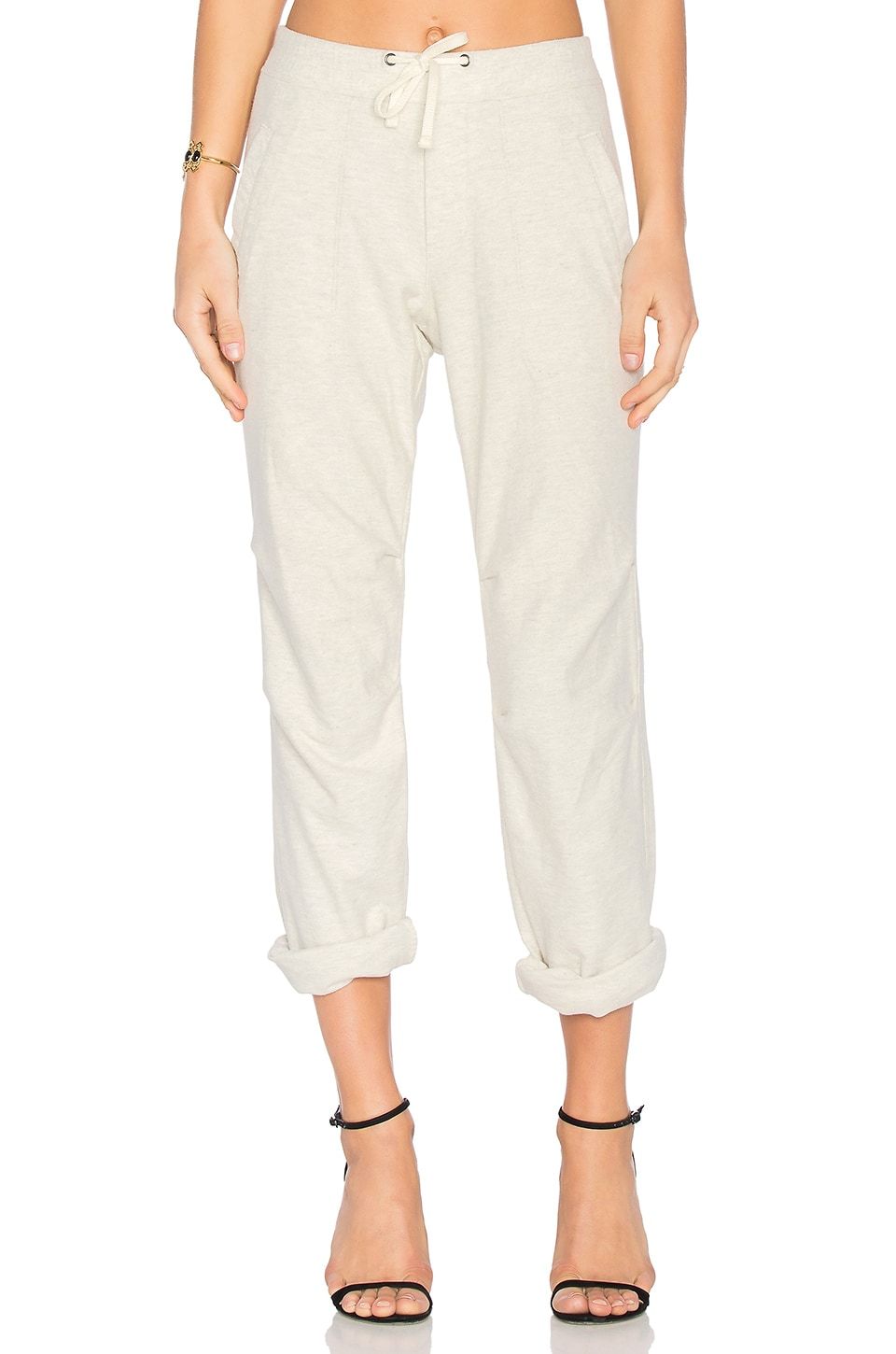 Heathered Knit Twill Pant by James Perse