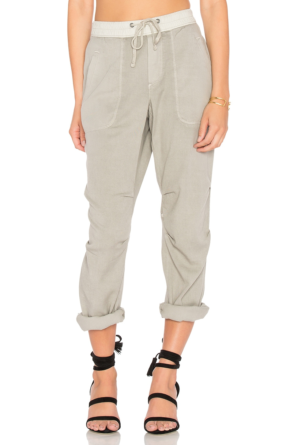 James Perse Twill Jogger Pant in Dapple